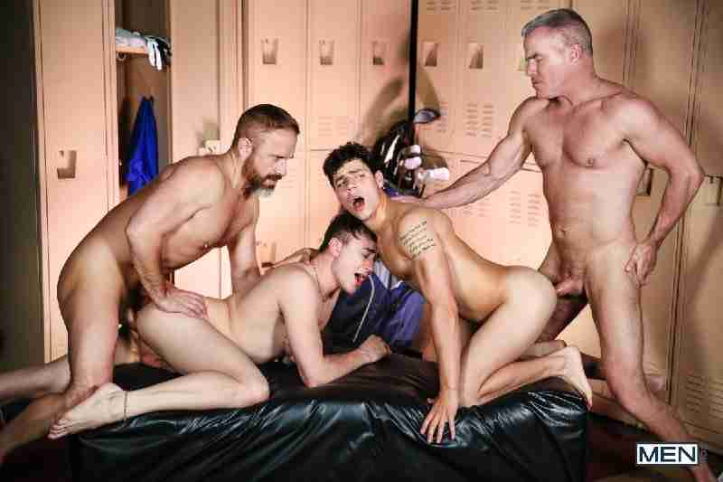 """Kaleb Stryker, Dirk Caber, Zander Lane, Dale Savage """"The Caddy And The Daddy Part 3: Bareback"""""""
