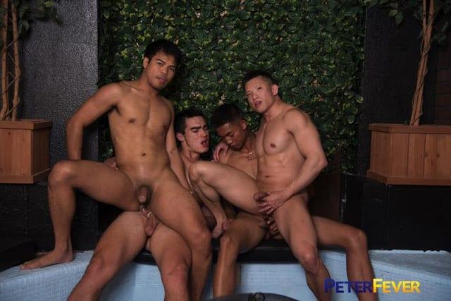 "Alec Cruz, Axel Kane, Jessie Lee, John Rene ""Sexy Rich Gaysians 6: Here Cum the Grooms"""