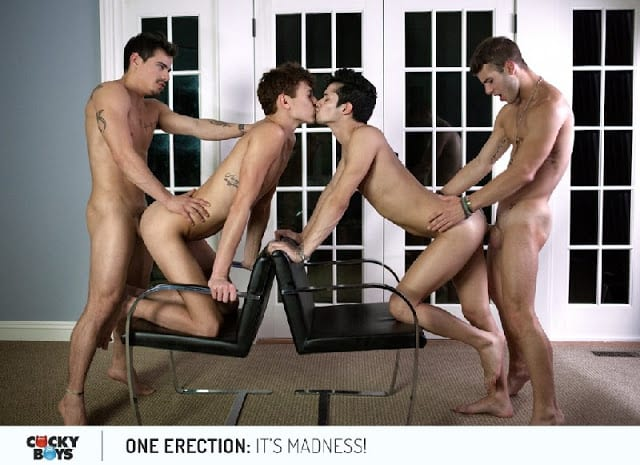 One Erection With Levi Karter, Tayte Hanson, Liam Riley, Kody Stewart, Trenton Ducati, Lukas Grande, Rikk York, Allen King, Jason Maddox, Nick Sterling & Colby Keller
