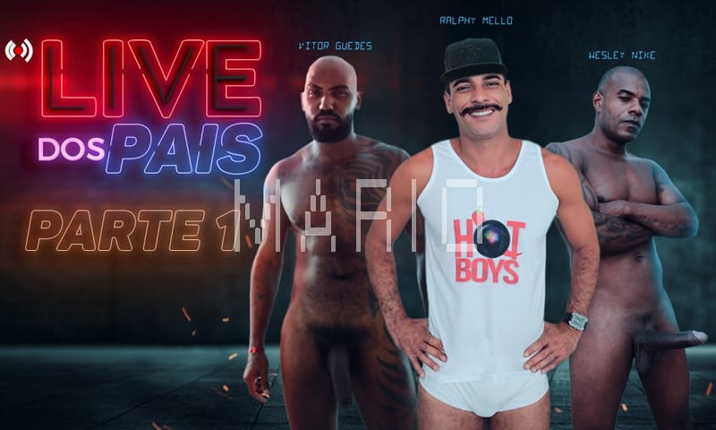 Live dos Pais – (Gravacao Parte 1)[Bareback] Ralphy Mello, Wesley Nike, Vitor Guedes, Gabriel Ninfeto, Igor
