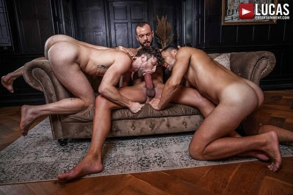 DREW DIXON SERVICES SIR PETER AND ANDREY VIC'S UNCUT COCKS (BAREBACK)