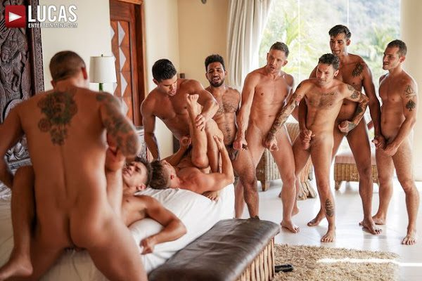 THE LUCAS MEN'S HOT AND HEAVY ORGY PART 02 (BAREBACK)